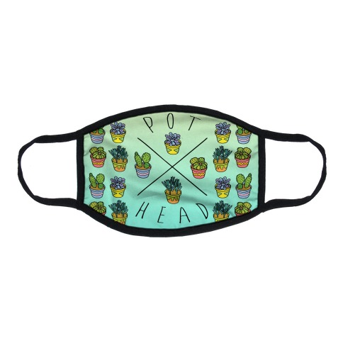 Pot Head Succulents Flat Face Mask