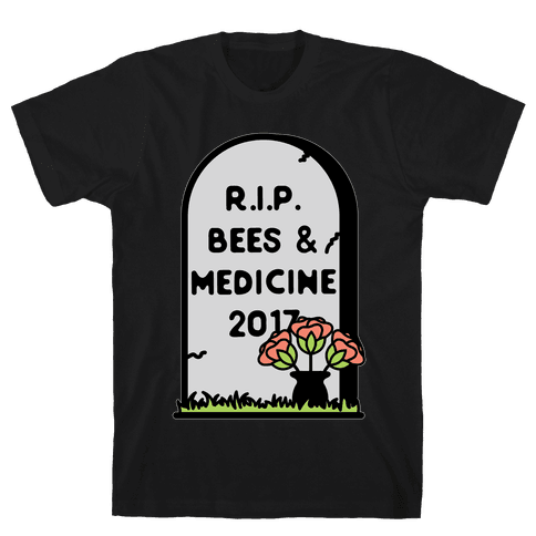 Rest In Peace Bees and Medicine Mens T-Shirt
