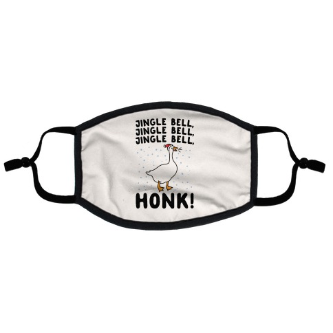 Jingle Bell Honk (Goose Parody) Flat Face Mask