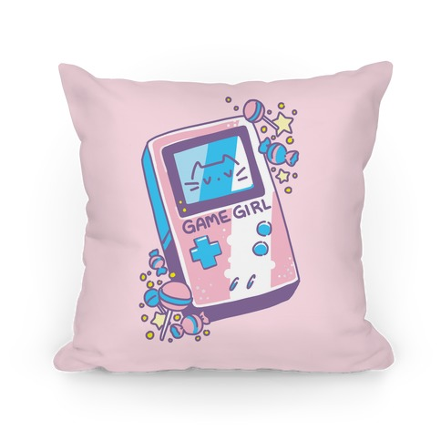 Game Girl - Trans Pride Pillow