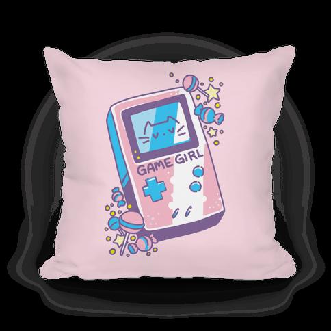 Game Girl - Trans Pride Pillow