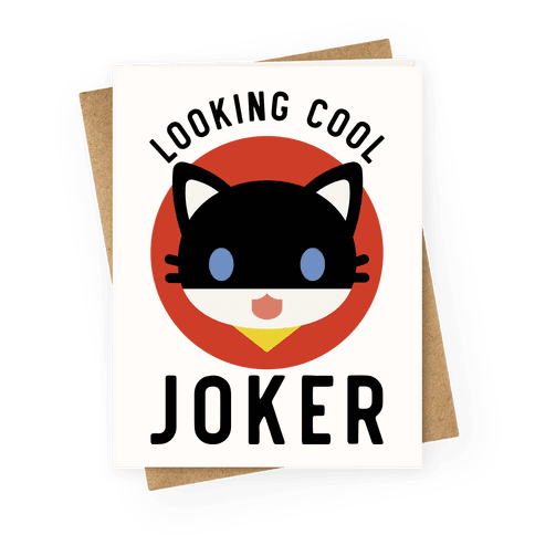 Looking Cool Joker Greeting Card