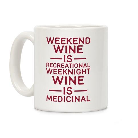 Weekend Wine is Recreational Weeknight Wine is Medicinal Coffee Mug