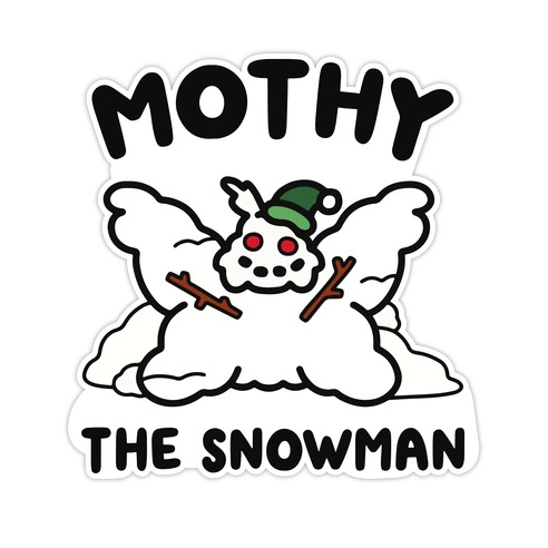 Mothy the Snowman Die Cut Sticker