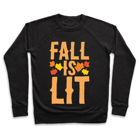 Fall Is Lit White Print Pullover