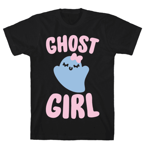 Ghost Girl White Print Mens T-Shirt