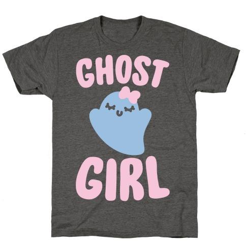 Ghost Girl White Print T-Shirt