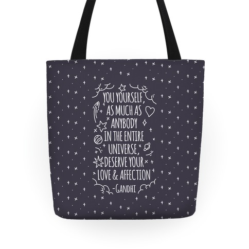 Love Yourself Gandhi Quote Tote