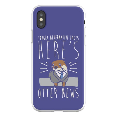 Otter News White Font Phone Flexi-Case