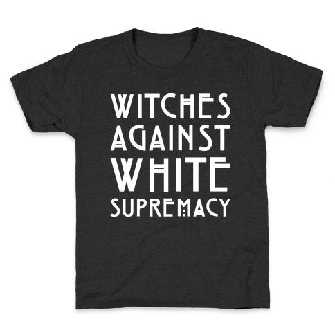 Witches Against White Supremacy White Print Kids T-Shirt