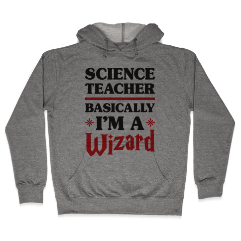 Science Teacher Basically I'm A Wizard Hooded Sweatshirt