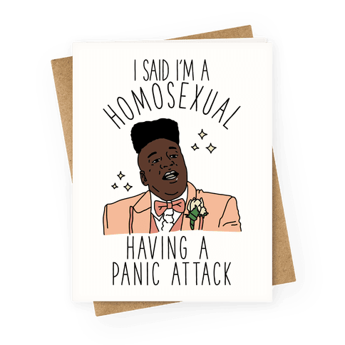 Homosexual Having a Panic Attack Greeting Card