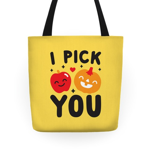 I Pick You Apple & Pumpkin Tote