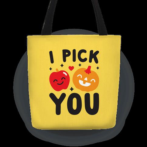 I Pick You Apple & Pumpkin Tote