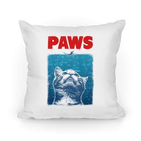 PAWS (Jaws Parody) Pillow