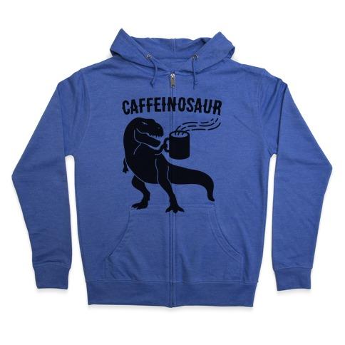 Caffeinosaur Zip Hoodie