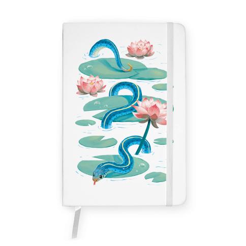 Garter Among Lily Pads Notebook