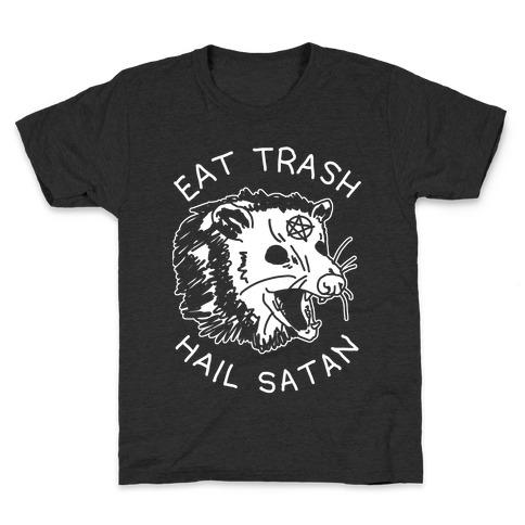 Eat Trash Hail Satan Possum Kids T-Shirt