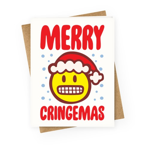 Merry Cringemas Parody Greeting Card
