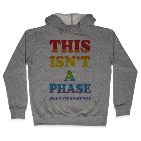 This Isn't A Phase Being Straight Was Hooded Sweatshirt