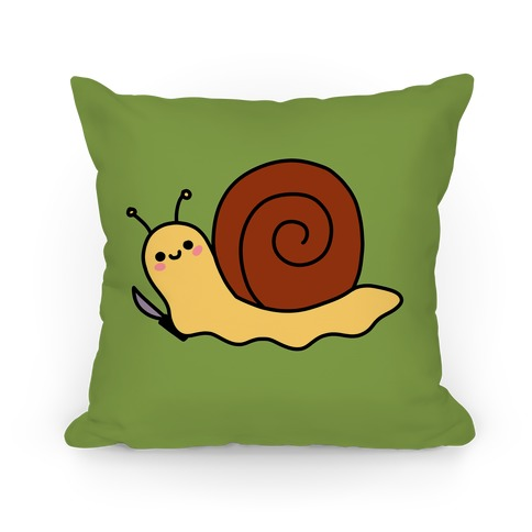 Snail With Knife Pillow