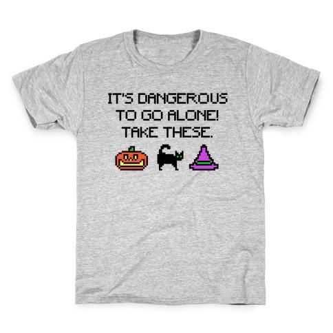 It's Dangerous To Go Alone Take These Halloween Parody Kids T-Shirt