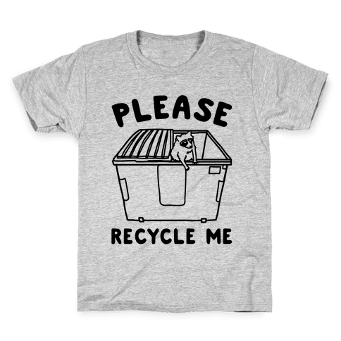Please Recycle Me Kids T-Shirt