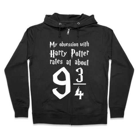 Harry Potter Obsession Zip Hoodie