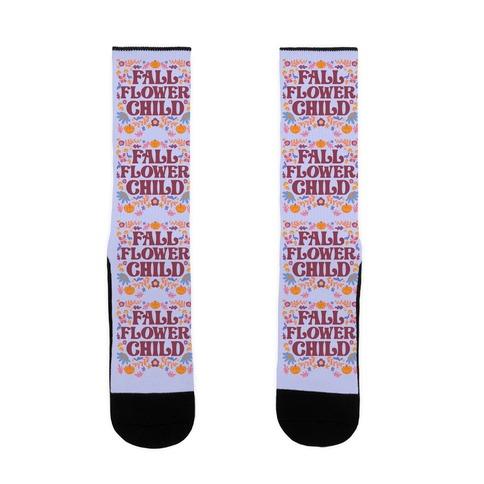 Fall Flower Child Sock