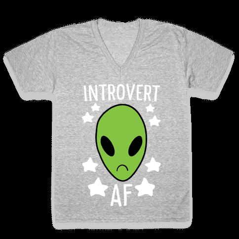Introvert AF V-Neck Tee Shirt