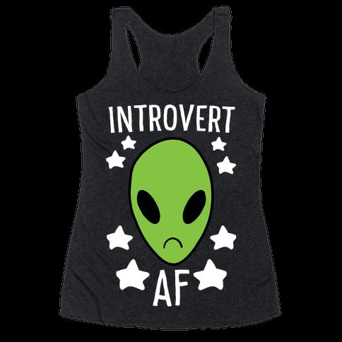 Introvert AF Racerback Tank Top