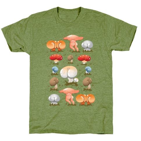 Butt Mushroom Pattern T-Shirt