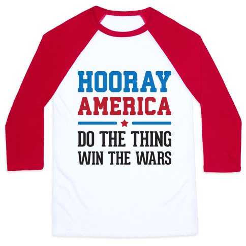 Hooray America Baseball Tee