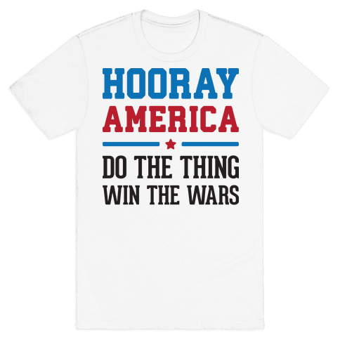 Hooray America Mens T-Shirt