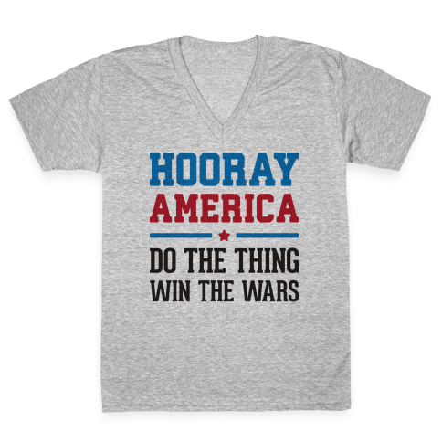 Hooray America V-Neck Tee Shirt