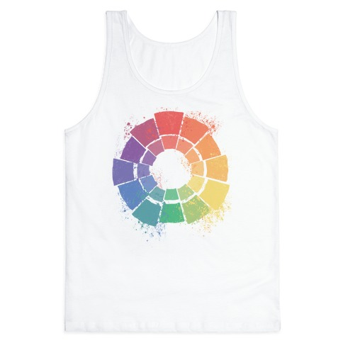 Gay Pride Color Wheel Tank Top