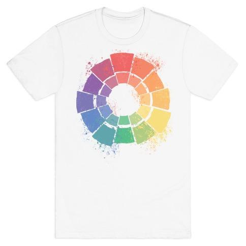 Gay Pride Color Wheel T-Shirt