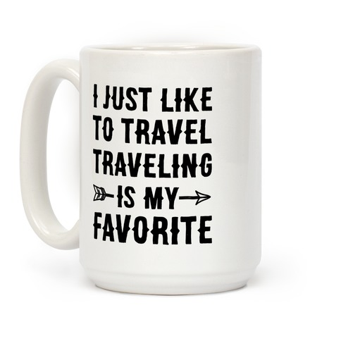 I Just Like To Travel Traveling Is My Favorite Coffee Mug