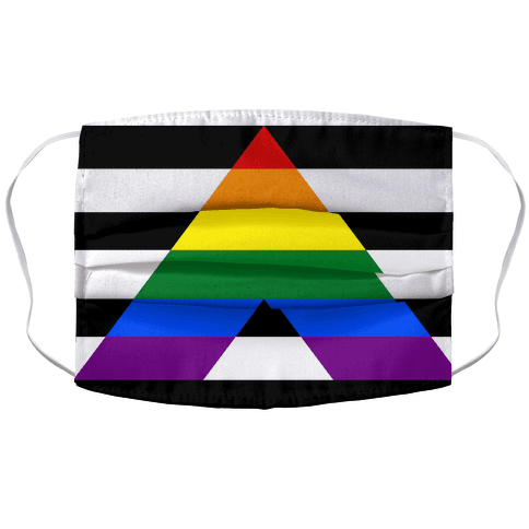 Ally Pride Flag Face Mask Cover