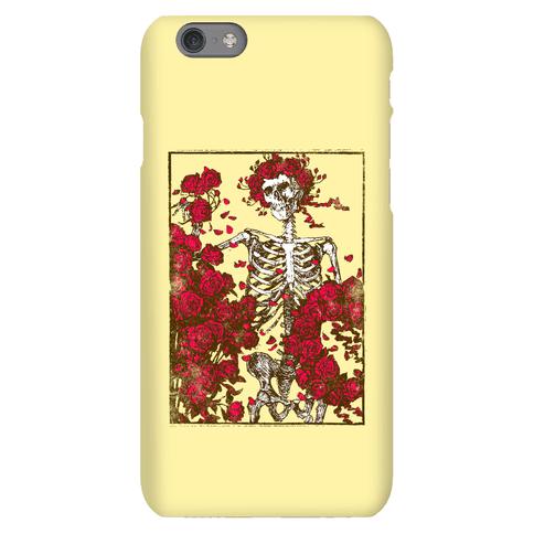 Flowers And A Skeleton (Vintage Design)
