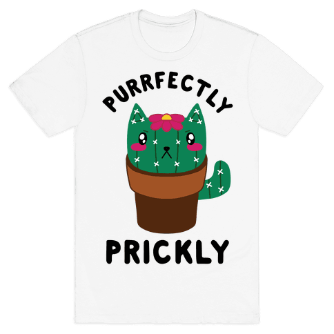 Purrfectly Prickly Mens/Unisex T-Shirt