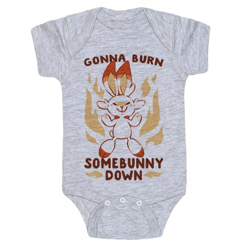 Gonna Burn Somebunny Down - Scorbunny Baby Onesy