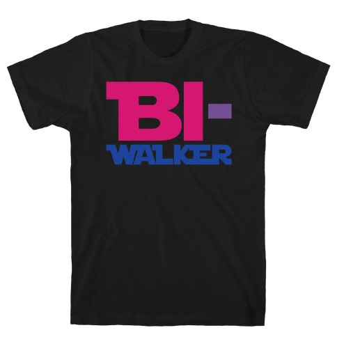 Bi-Walker Parody White Print T-Shirt
