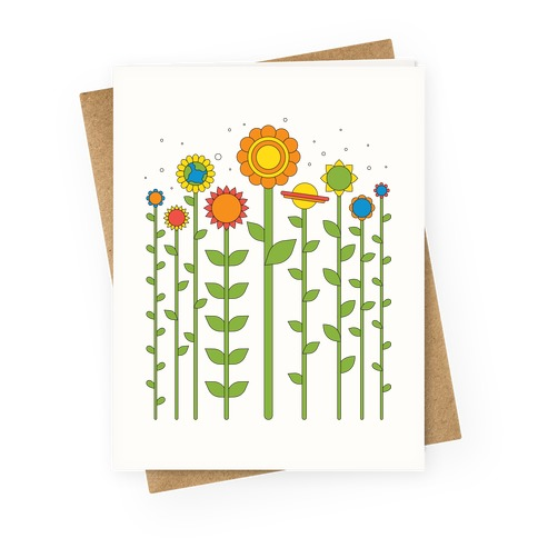 Plant Planets Greeting Card