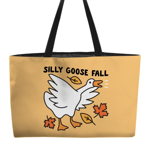 Silly Goose Fall Weekender Tote