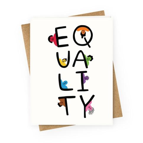 Equality People Greeting Card