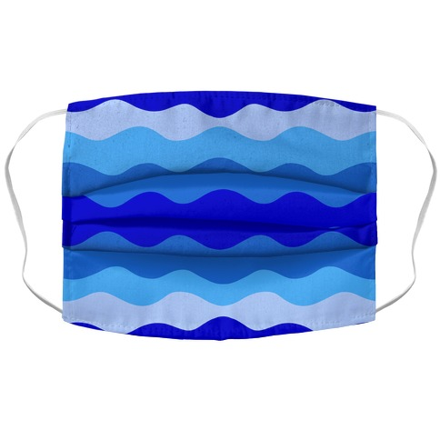 Blue Waves Accordion Face Mask