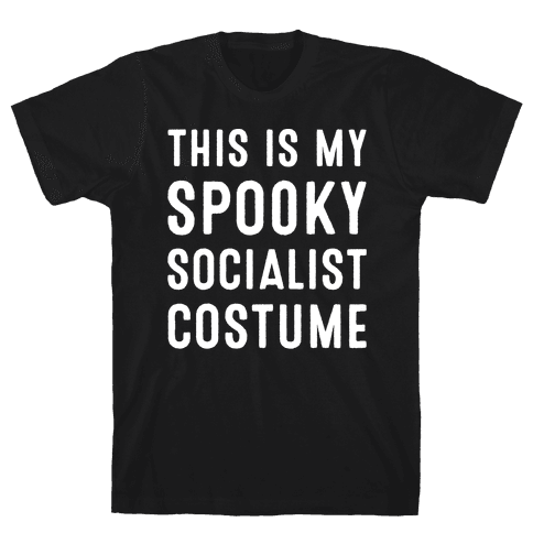This Is My Spooky Socialist Costume White Print Mens T-Shirt