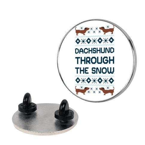 Dachshund Through The Snow pin