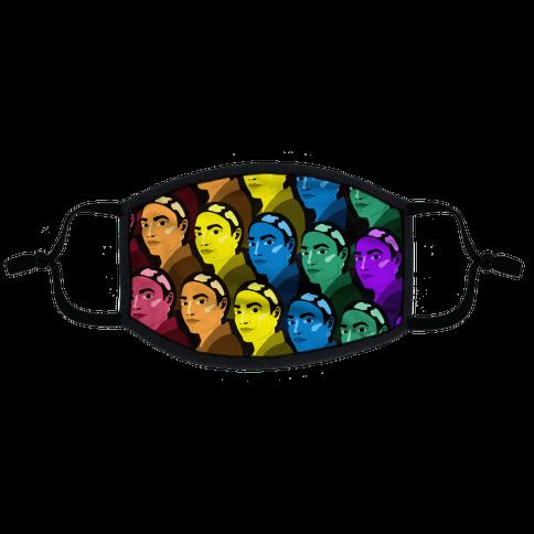 Rainbow AOC Pattern Flat Face Mask